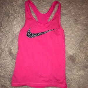Pink Nike Swoosh Tank